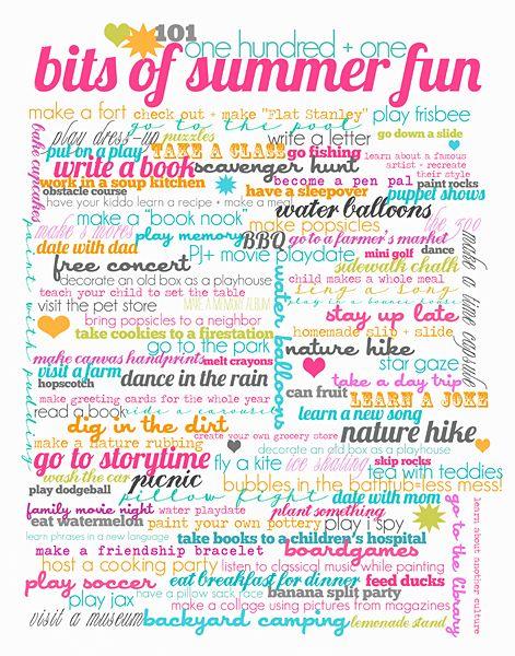Summer Fun 101