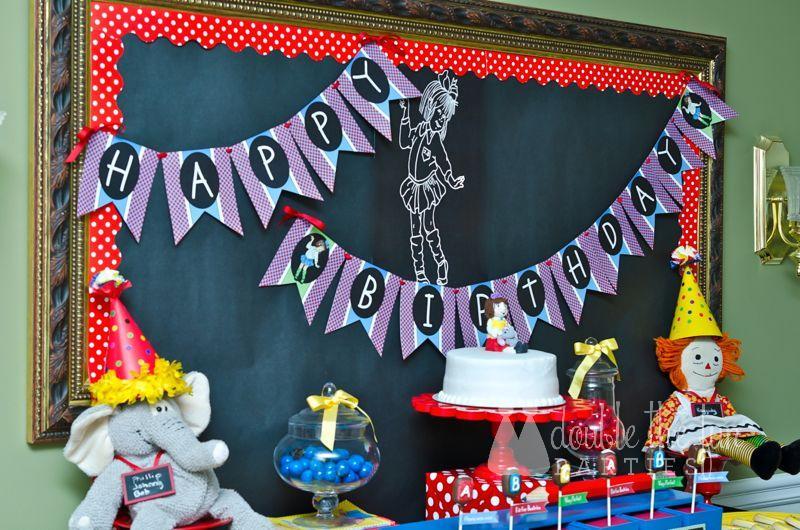 Junie B Jones Party by The Party Teacher - happy birthday banner