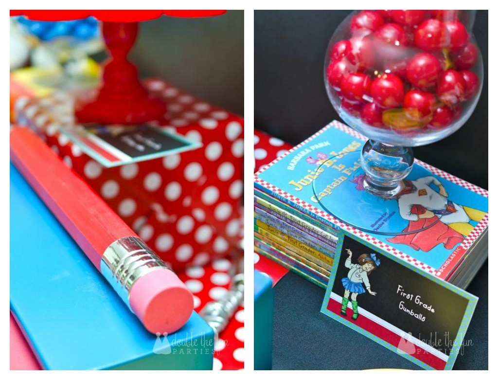 Junie B Jones Party by The Party Teacher - incorporate Junie B books on your dessert table