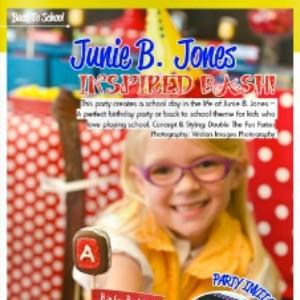 My Junie B. Jones Party Featured in Bird's Party Magazine!