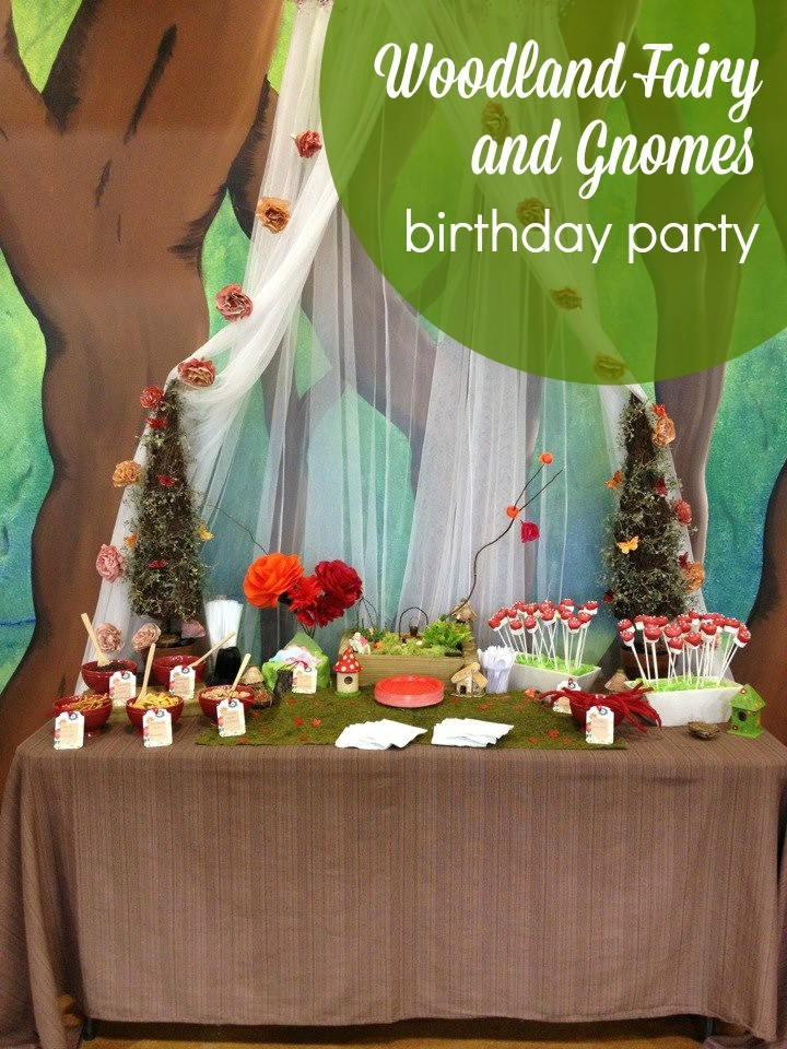 Guest Party Woodland Fairy Gnomes 7th Birthday