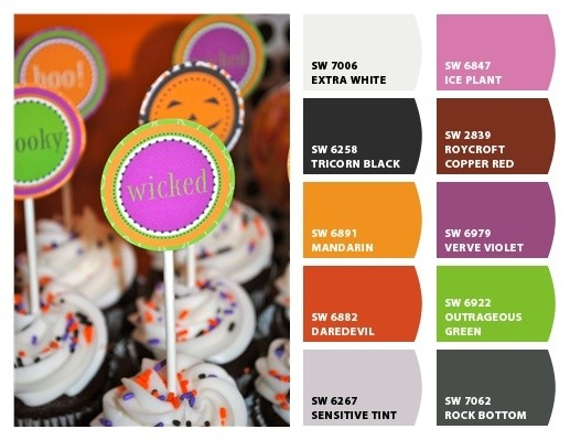halloween party color palette