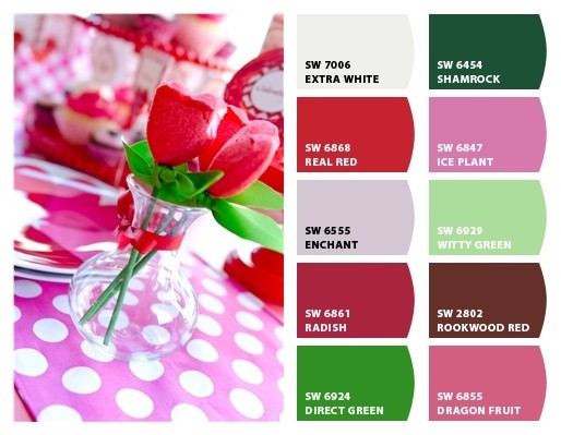valentine's day party color palette