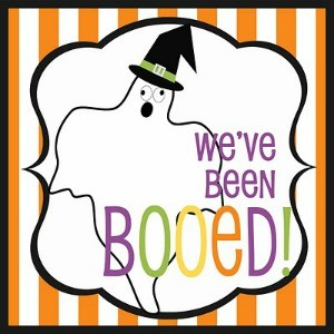 "Freebie Friday: ""We've Been Booed"" Signs"