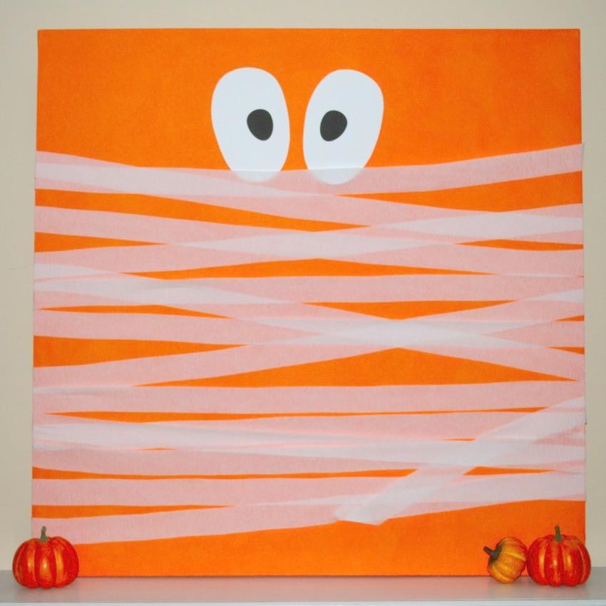 Halloween Mummy Canvas-850x850