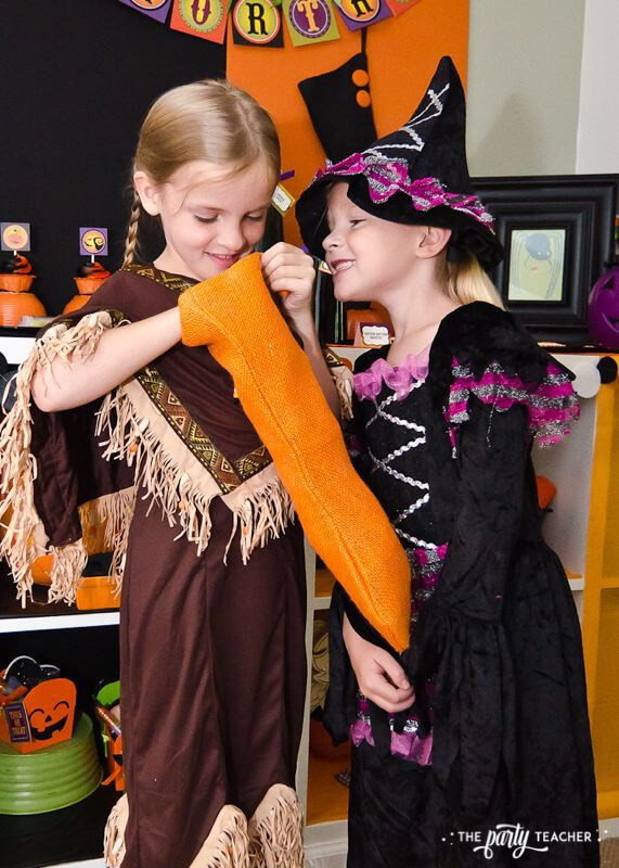 Halloween Trick or Treat Party by The Party Teacher - Halloween stockings