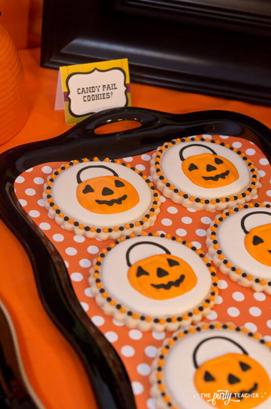 Halloween Trick or Treat Party by The Party Teacher - candy pail cookies