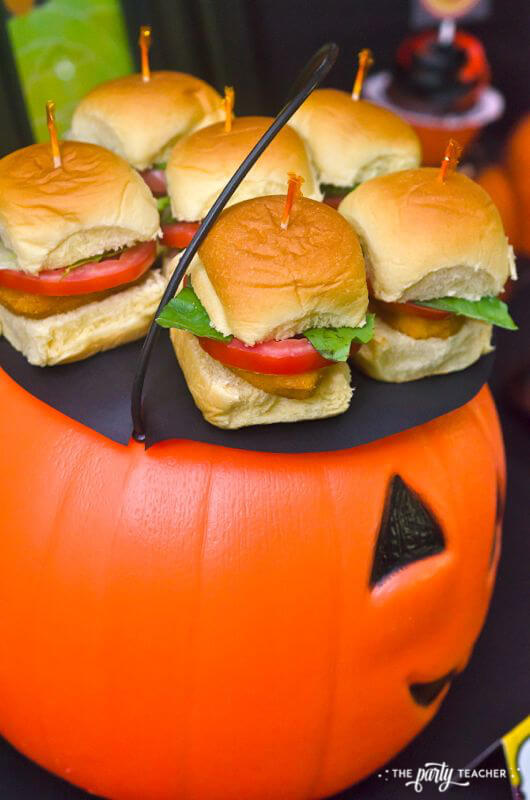 Halloween Trick or Treat Party by The Party Teacher - chicken nugget sandwiches