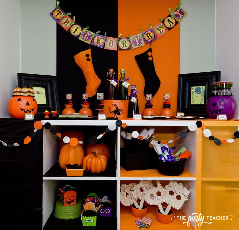 Halloween Trick or Treat Party by The Party Teacher - dessert table party games party favors