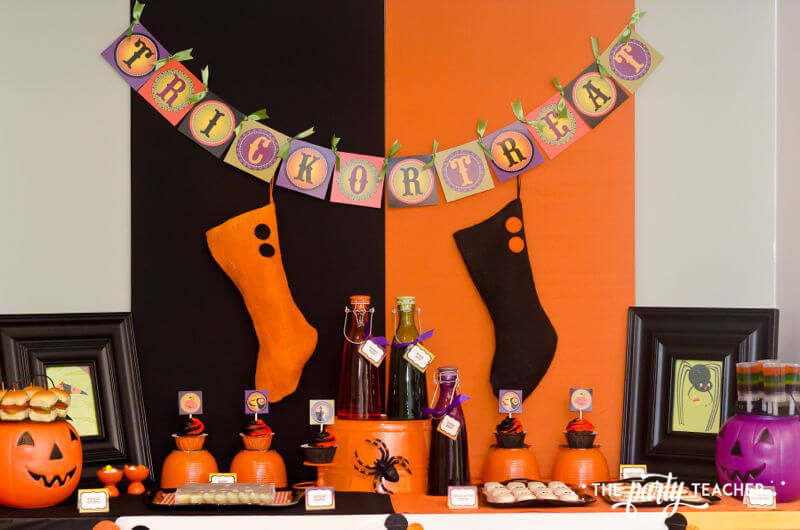 Halloween Trick or Treat Party by The Party Teacher - dessert table