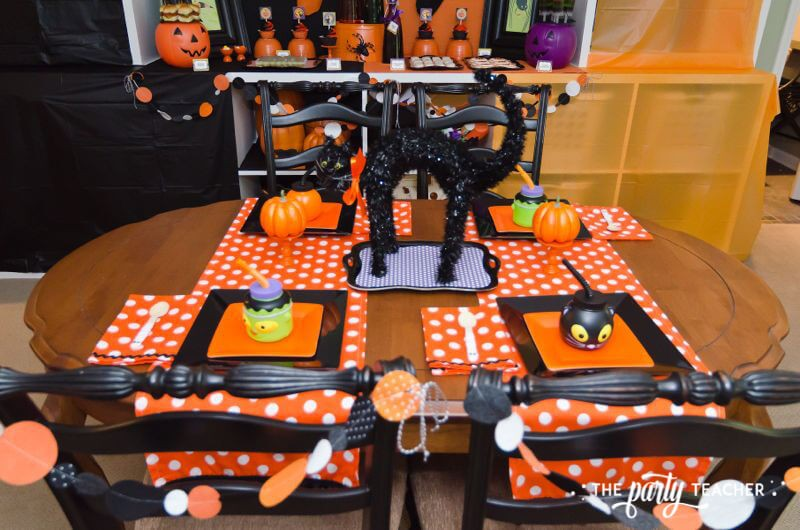 Halloween Trick or Treat Party by The Party Teacher - dining table