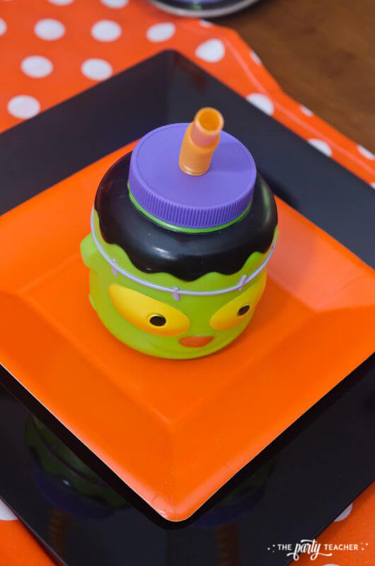 Halloween Trick or Treat Party by The Party Teacher - frankenstein cup