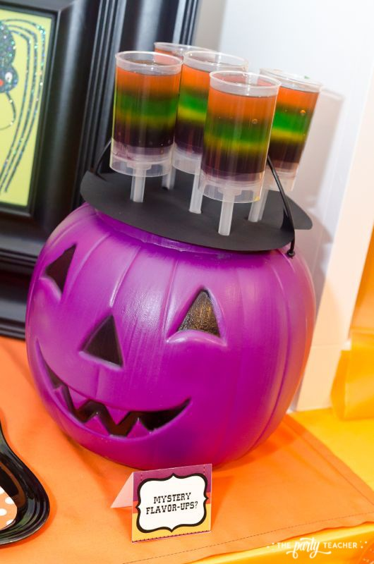 Halloween Trick or Treat Party by The Party Teacher - jell-o push-up pops