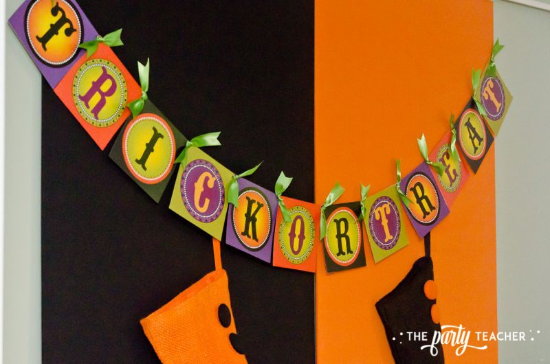 Halloween Trick or Treat Party by The Party Teacher - trick or treat printable banner