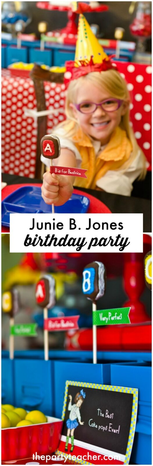 How to plan a Junie B Jones birthday party by The Party Teacher