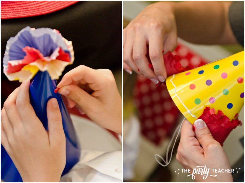 Junie B Jones Birthday Party by The Party Teacher - decorating hats