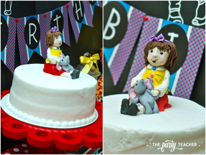 Junie B Jones Birthday Party by The Party Teacher - fondant cake topper