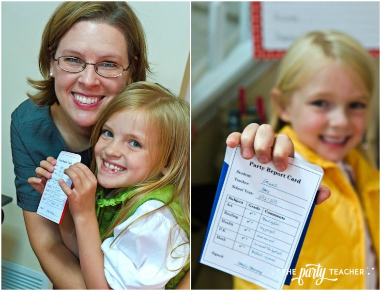 Junie B Jones Birthday Party by The Party Teacher - party report card