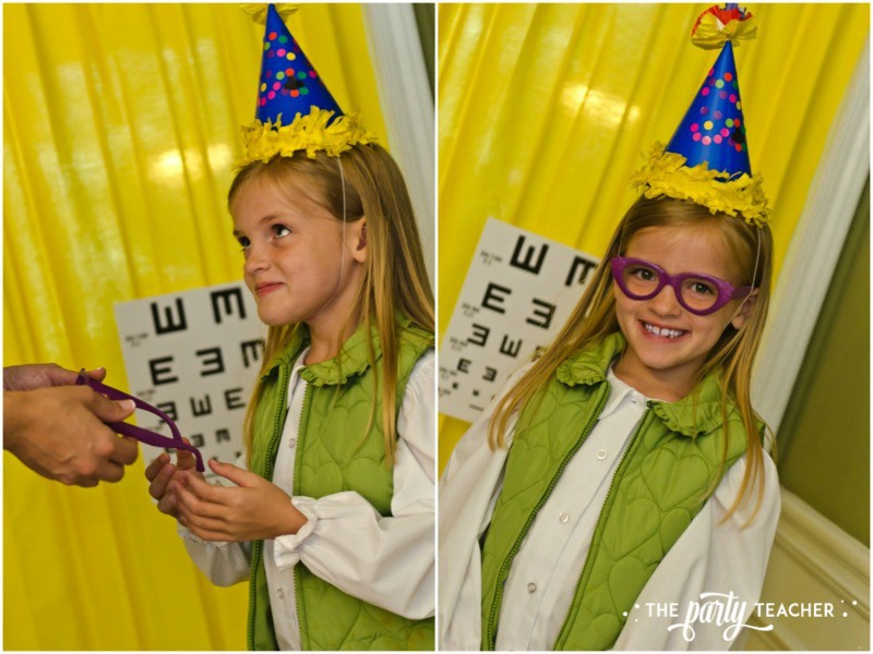 Junie B Jones Birthday Party by The Party Teacher - vision test