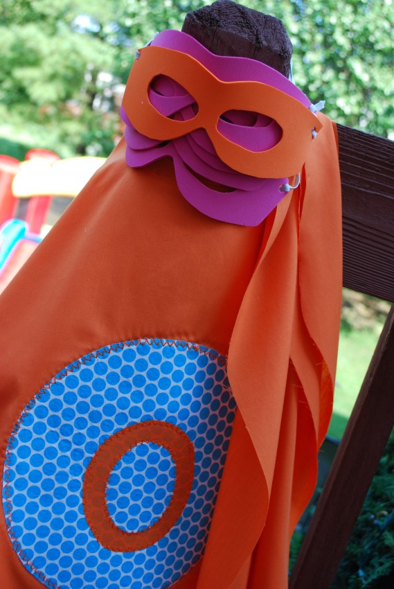 Girl's superhero birthday party - capes and masks