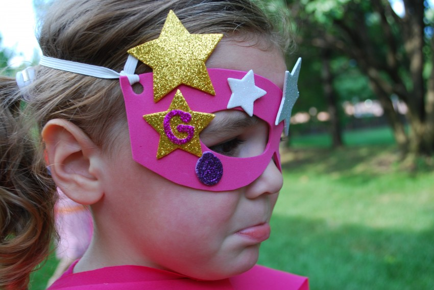 "Girl's superhero birthday party - scared of the ""bad guy"""