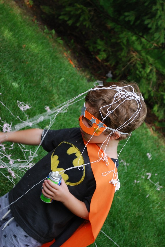 Girl's superhero birthday party - sill string