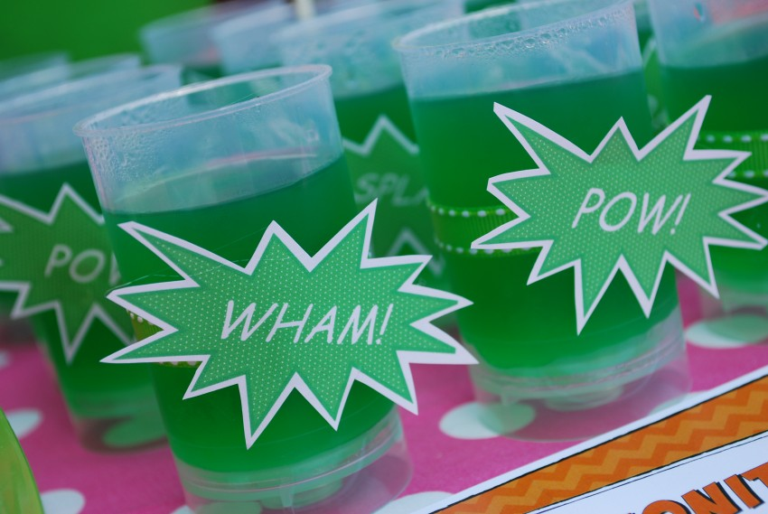 Girl's superhero birthday party -jell-o