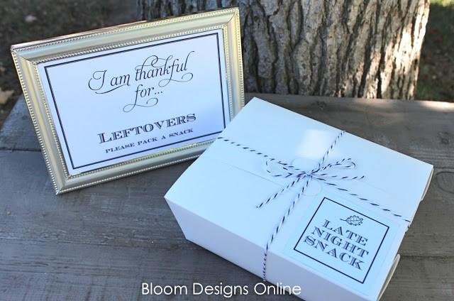 FF Bloom Designs Thanksgiving free printables