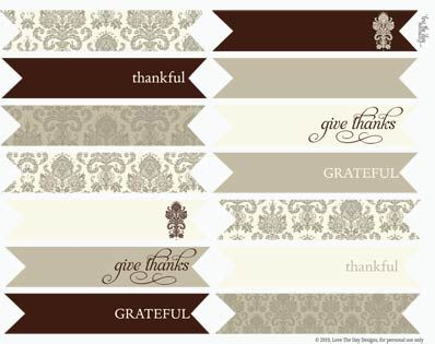 FF Love the Day via Catch My Party Thanksgiving free printables