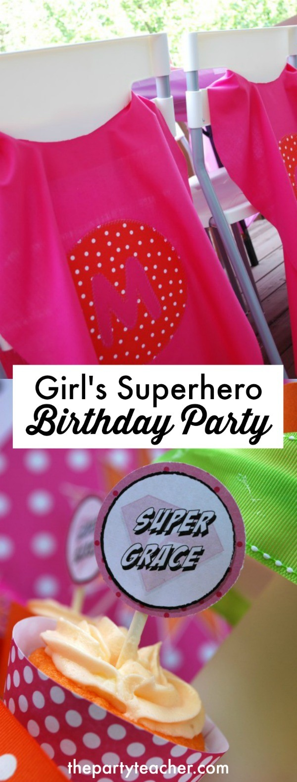 Girl's superhero birthday party by LillyPaul Designs featured on The Party Teacher