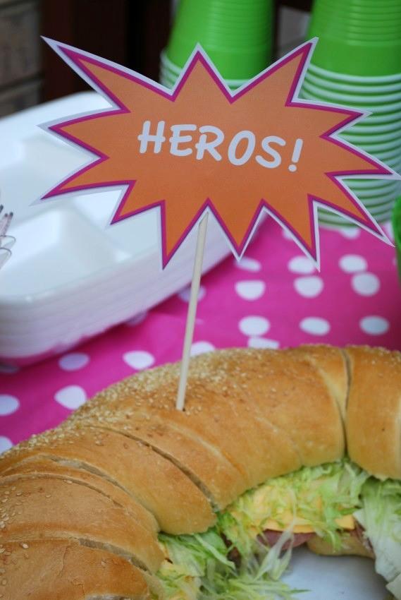 Girl's superhero birthday party -heros
