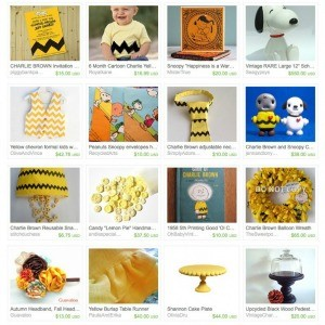 Etsy Treasury: Good Grief! It's a Party, Charlie Brown!
