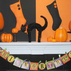 Inspiration: Halloween Mantels
