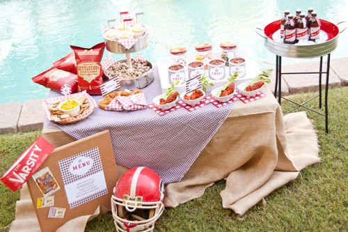 Tailgating party from Petite Party Studio