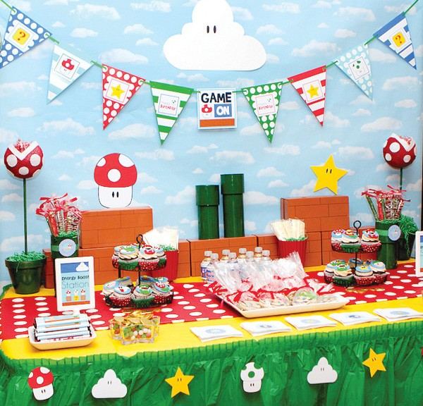 super-mario-party-dessert-table
