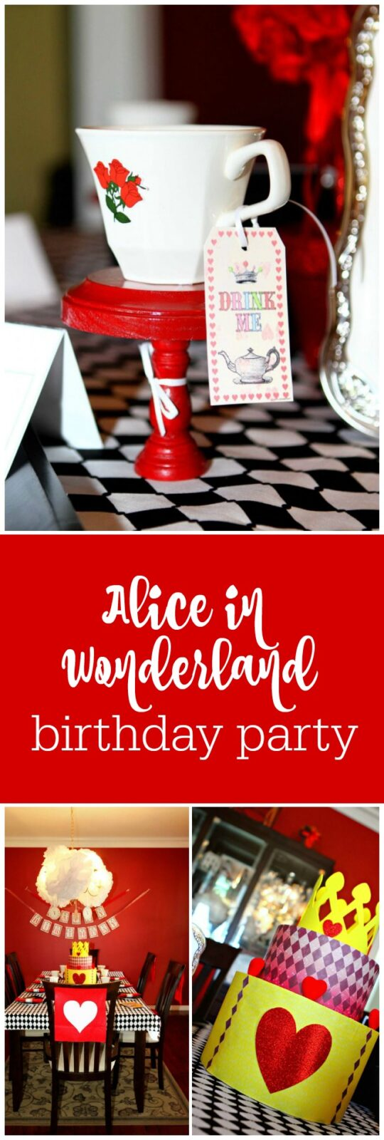 Alice in Wonderland birthday 5th party for twins by Home Confetti featured on The Party Teacher