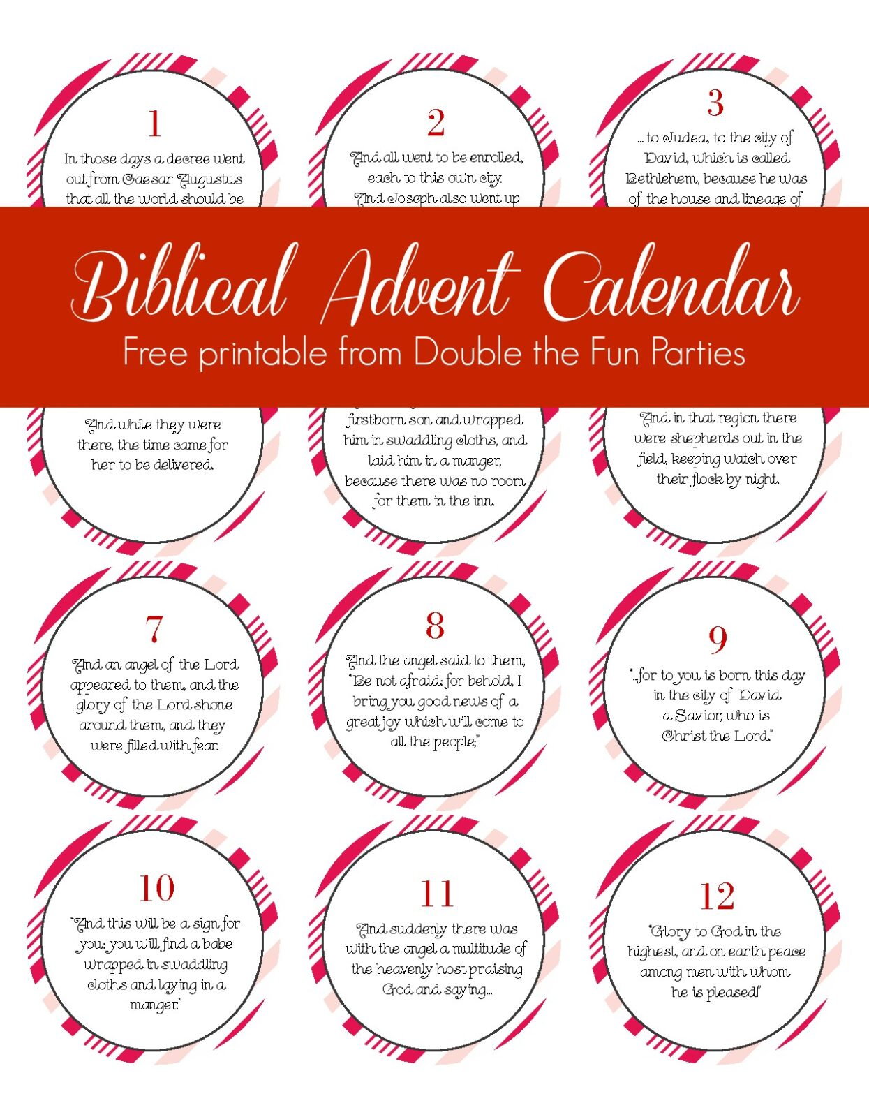 graphic relating to Free Printable Advent Calendar Template called Free of charge Biblical Arrival Calendar Printable