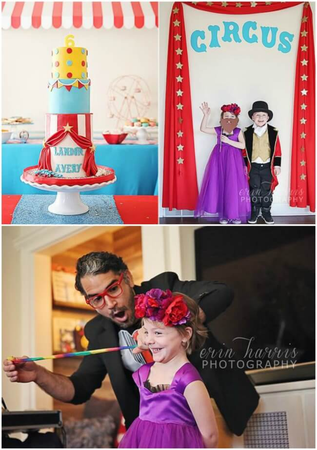 Circus party for boy girl twins - Erin Harris Photography