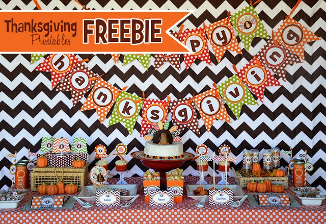 FF Amanda's Parties To Go Thanksgiving free printables