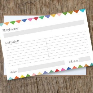 Freebie Friday: Recipe Cards + Recipe