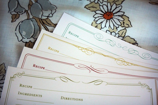FF Tie That Binds Recipe Cards