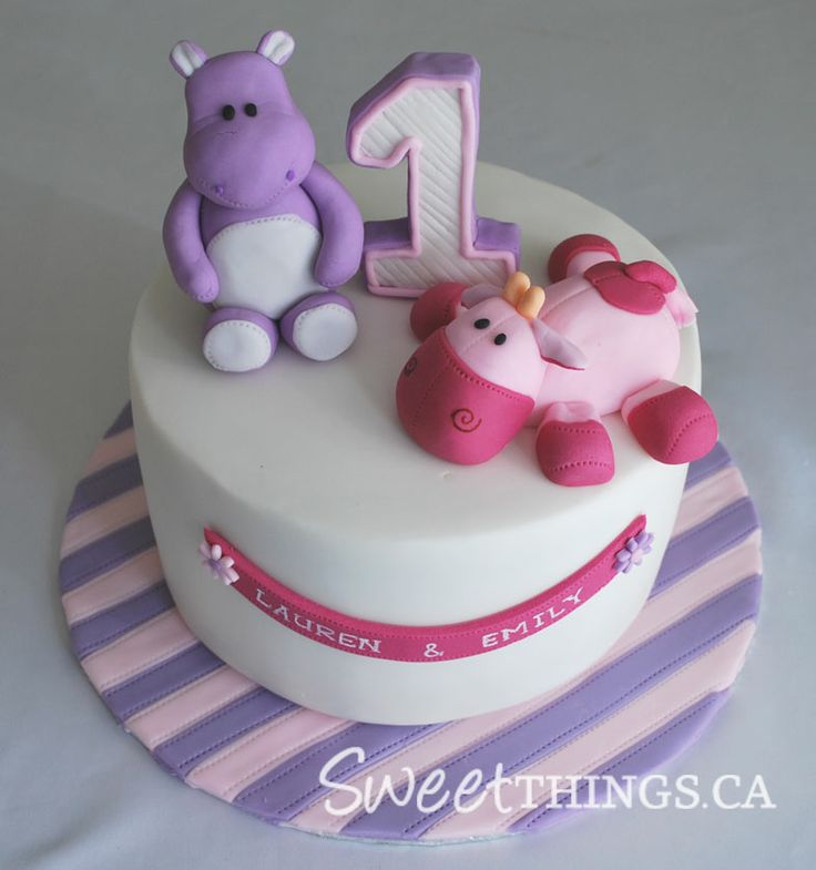 Hippo Cake Toppers