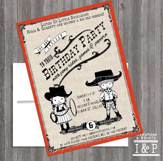 Invitations and Prints western invite