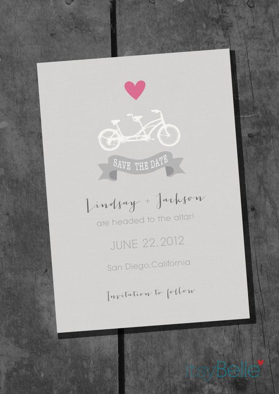 Itsy Belle Bicycle Invite