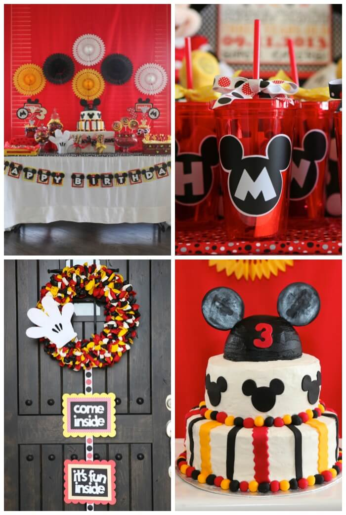 Mickey and Minnie Party for boy girl twins