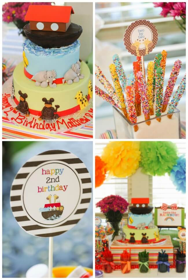 Noah's Ark 2nd birthday party for twins by Kelly Little