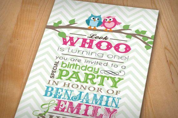 Printastic Design Owls Invite