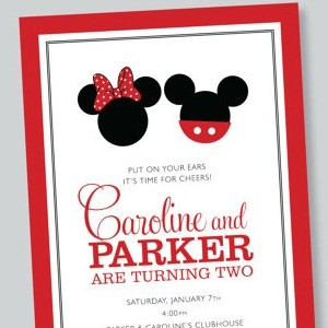 Twins: Birthday Invites for Two