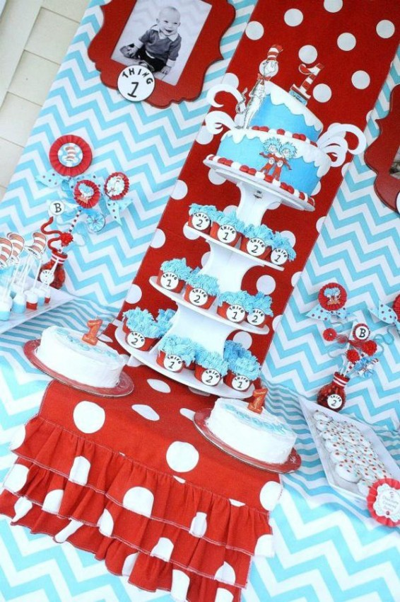 Thing 1 and Thing Two Twins Party