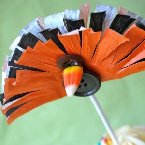 Tutorial: Turkey Cupcake Toppers